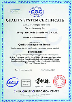 CE and ISO9001:2000 Certificate
