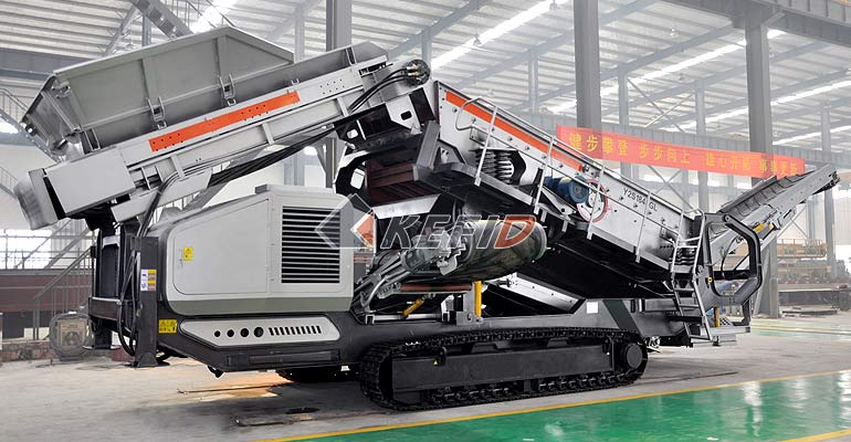 Crawler type mobile crushing and screening Crusher