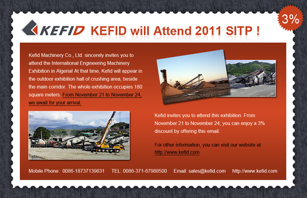 International machinery fair in Algeria-KEFID strong moves